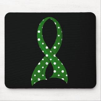 Polka Dot Ribbon Liver Cancer Mousepads