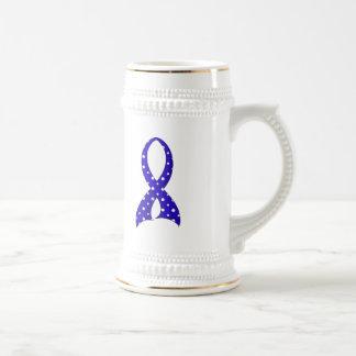 Polka Dot Ribbon Rheumatoid Arthritis 18 Oz Beer Stein