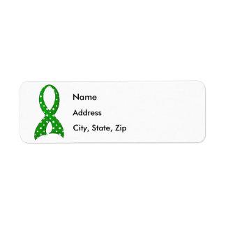 Polka Dot Ribbon Traumatic Brain Injury TBI Label
