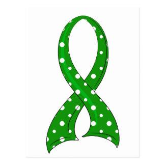 Polka Dot Ribbon Traumatic Brain Injury TBI Postcard