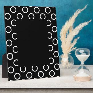 Polka Dot Rings - White Plaque