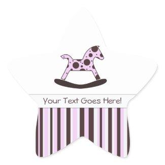 Polka Dot Rocking Horse: Message Stickers sticker