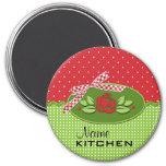 Polka Dot Roses Magnet, Red Fridge Magnet