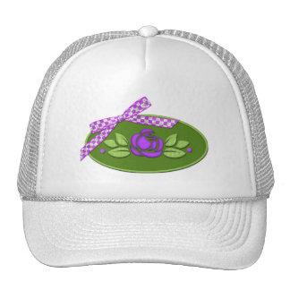 Polka Dot Roses PURPLE Trucker Hat