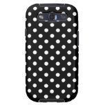 Polka Dot Samsung Galaxy S3 Case Black and White