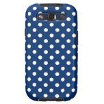 Polka Dot Samsung Galaxy S3 Case in Dark Blue