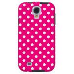Polka Dot Samsung Galaxy S4 Case in Hot Pink