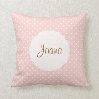 Polka Dot Scalloped Edge Custom Name Pillows