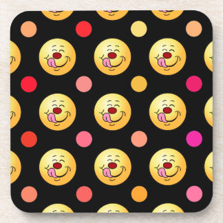 Polka Dot Smileys Coaster