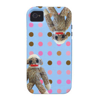 Polka Dot Sock Monkey iPhone 4 Case