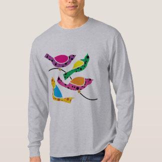 Polka Dot Song Birds - Abstract Pop Art Tshirt