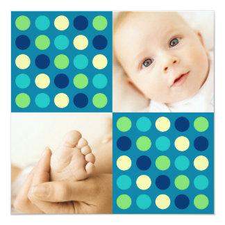 Polka Dot Squares Blue Card
