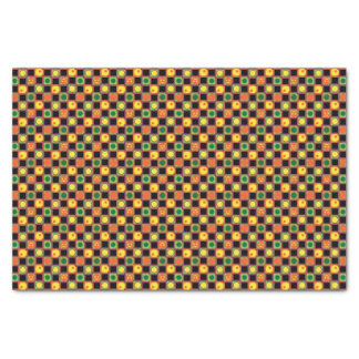 Polka Dot Squares Halloween Pumpkin Pattern Tissue Paper