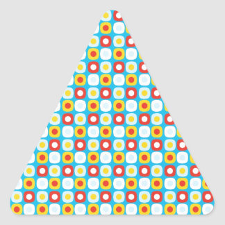 Polka Dot Squares Triangle Sticker