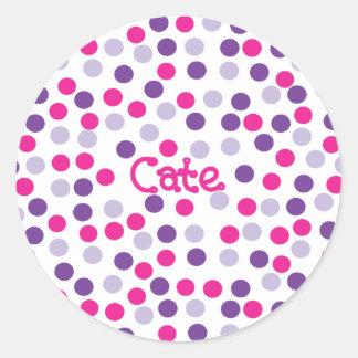 Polka Dot Sticker - Cate 2