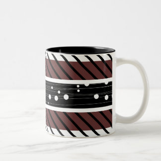 Polka Dot, striped, Retro pattern coffee mug