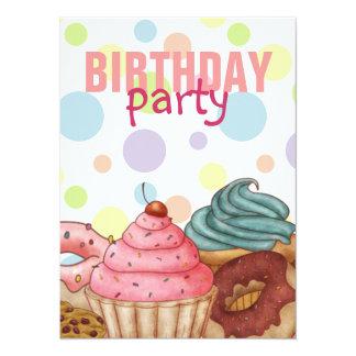 Polka Dot Sweet Party Time Birthday Invitation