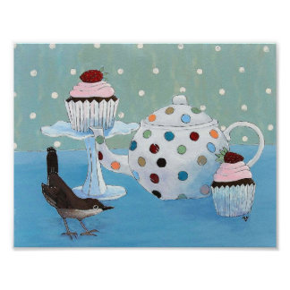 Polka Dot Tea Poster