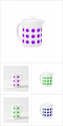 Polka Dot Teacups and Teapots