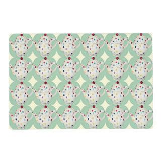Polka Dot Teapot Pattern Placemat
