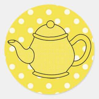 Polka Dot Teapot V2 Stickers