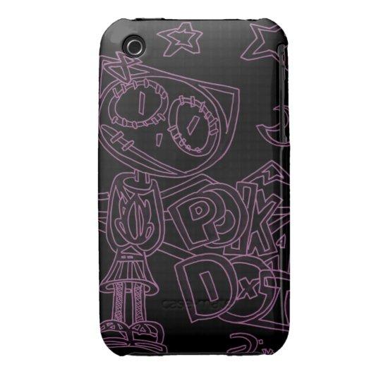 Polka Dot ( the Cartoon Kitty ) iPhone 3 Cover