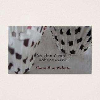 Polka Dot Themed Cupcakes Business Card