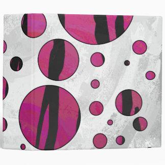 Polka Dot Tiger Hot Pink and Black Print Binder