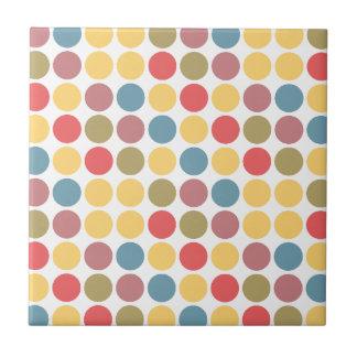 Polka Dot Small Square Tile