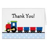 Polka Dot Train Thank You Stationery Note Card