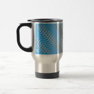 Polka Dot Travel Mug Blue Orange