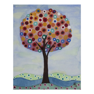 Polka Dot Tree by Heather Saulsbury Poster