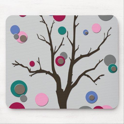 Polka Dot Tree Mouse Pad