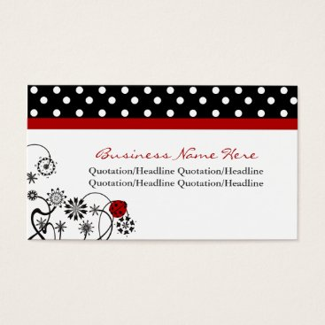Professional Business Polka Dot Trimmed Lady Bug Business Cards