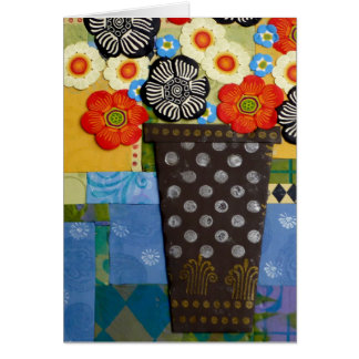 Polka Dot Vase Stationery Note Card