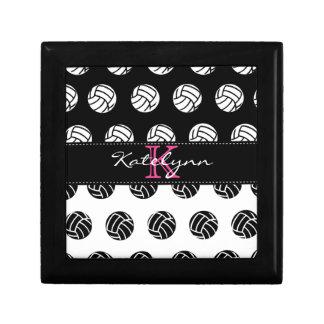 Polka Dot Volleyball Custom Monogram Keepsake Keepsake Box