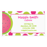 Polka Dot Watermelon Business Calling Card Business Card