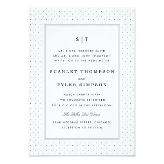 Polka Dot Wedding Card