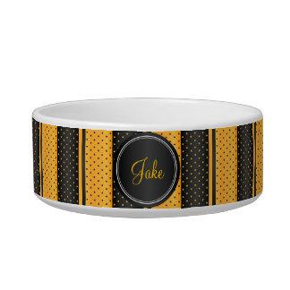 Polka Dot Yellow and Black - DIY Name Bowl