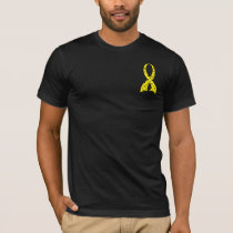 Polka Dot Yellow Ribbon Bladder Cancer T-Shirt