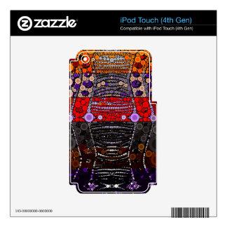 Polka-dot Zebra iPod Touch 4G Decals