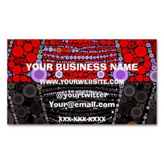 Polka-dot Zebra Magnetic Business Card