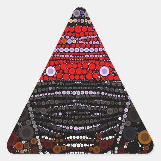 Polka-dot Zebra Triangle Sticker
