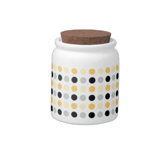 Polka Dots (10 oz) Porcelain Candy Jar