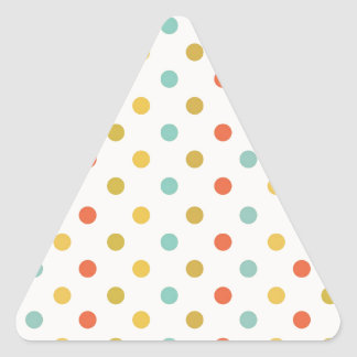 Polka-dots #2 triangle sticker