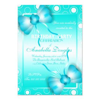 Polka Dots and Bow ties Birthday Party Invitations