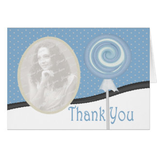 Polka Dots and Candy Thank You Card
