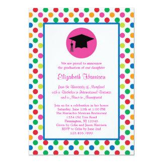 Polka Dots and Cap Graduation Invitation