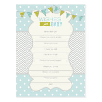 Polka Dots and Chevron - Wishes for Baby Card