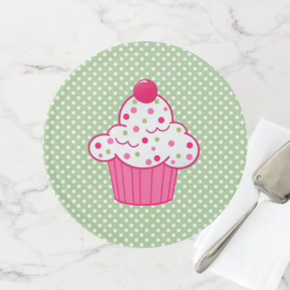 Polka Dots and Cupcake Cake Plate